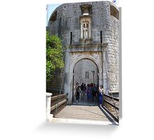 Dubrovnik bridge to entrance of old town.  Greeting Card