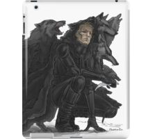 black wolves iPad Case/Skin