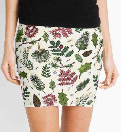 Leaves Pattern Mini Skirt
