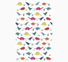 Colourful Dinosaur Pattern Kids Tee