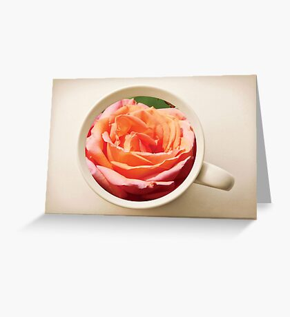 Rose in the Cup Greeting Card