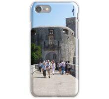 Dubrovnik bridge and entrance. iPhone Case/Skin