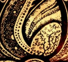 Coloured lotus  Sticker