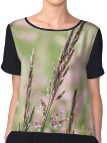 Pink Grass Abstract Chiffon Top