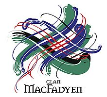 Clan MacFadyen - Prefer your gift on Black/White tell us at info@tangledtartan.com  Photographic Print