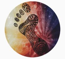 Coloured psychedelic footprint  by Emilie Desaunay