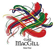 Clan MacGill - Prefer your gift on Black/White tell us at info@tangledtartan.com  Photographic Print