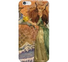Vintage Golden Woman Capricorn Gothic Whimsical Collage iPhone Case/Skin