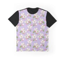 Apple Blossom Pattern Graphic T-Shirt
