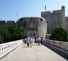 Dubrovnik bridge and entrance. by machka