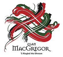 Clan MacGregor - Prefer your gift on Black/White tell us at info@tangledtartan.com  Photographic Print