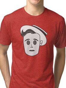 Buster Keaton in Classic Black & White Tri-blend T-Shirt
