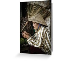 The Broom Vendor  Greeting Card