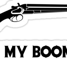This Is My BOOMSTICK black print Sticker