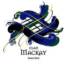 Clan Mackay - Prefer your gift on Black/White tell us at info@tangledtartan.com  Photographic Print