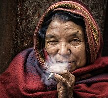 The Smoker by Michiel de Lange