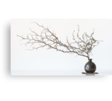 Vase With Branch Metal Print