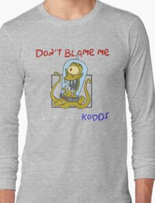Don't Blame Me I Voted For Kodos - Simpsons Long Sleeve T-Shirt