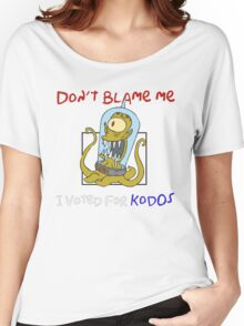 Don't Blame Me I Voted For Kodos - Simpsons Women's Relaxed Fit T-Shirt