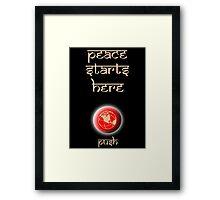 Peace Button Shirt #2 Framed Print