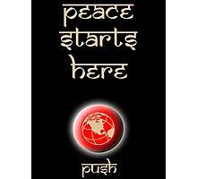 Peace Button Shirt #2 Photographic Print