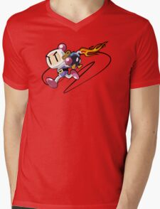 Bobomberman Mens V-Neck T-Shirt