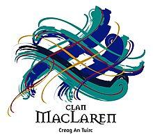 Clan MacLaren - Prefer your gift on Black/White tell us at info@tangledtartan.com  Photographic Print