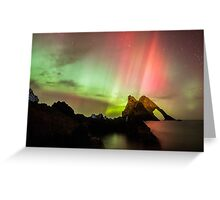 Northern Lights with Bow Fiddle Greeting Card