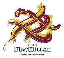 Clan MacMillan - Prefer your gift on Black/White tell us at info@tangledtartan.com  Photographic Print