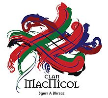 Clan MacNicol - Prefer your gift on Black/White tell us at info@tangledtartan.com  Photographic Print