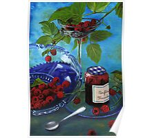 Still-life with raspberries Poster
