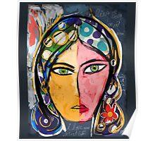 Portrait of a mystique girl Poster
