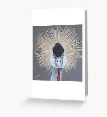 Bird Portrait - Crowned Crane Greeting Card