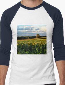 Summer sunflower field Men's Baseball ¾ T-Shirt