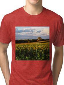 Summer sunflower field Tri-blend T-Shirt