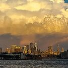 New York Skyline at Sunset by Sherri Fink