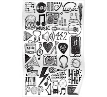 Music Doodles Poster