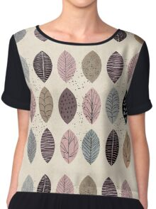 Nature Inspired Leaves  Chiffon Top