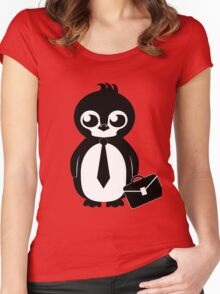 Business Penguin Women's Fitted Scoop T-Shirt