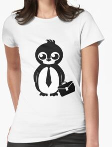 Business Penguin Womens Fitted T-Shirt