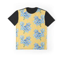 Forget-Me-Not Pattern Graphic T-Shirt