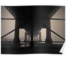 Under the Old Sakonnet River Bridge Toned Poster