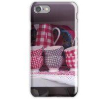 Tea Cups in Gingham iPhone Case/Skin