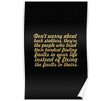 Don't worry about... Inspirational Quote Poster