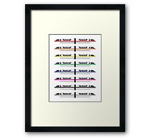Monorails Framed Print