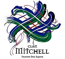 Clan Mitchell - Prefer your gift on Black/White tell us at info@tangledtartan.com  Photographic Print