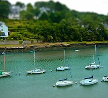 River of Le Bono Auray Brittany France - Tilt Shift Effect by Buckwhite