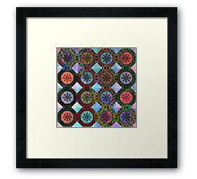 Coloured Chequers Framed Print