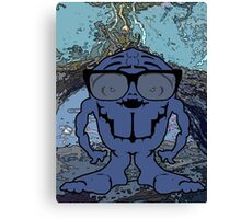 Alien brain monster  Canvas Print