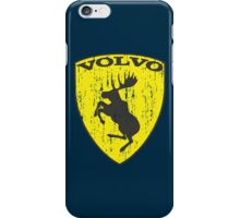Volvo Prancing Moose - Grunge iPhone Case/Skin